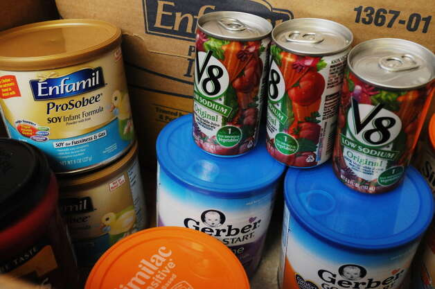 Food donations at the Food Pantries for the Capital District on Wednesday, March 26, 2014 in Albany, N.Y. (Paul Buckowski / Times Union)