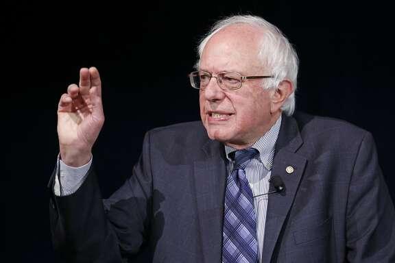 FILE - In this Nov. 9, 2015 file photo, Democratic presidential candidate Sen. Bernie Sanders, I-Vt., speaks in Las Vegas. (AP Photo/John Locher, File)