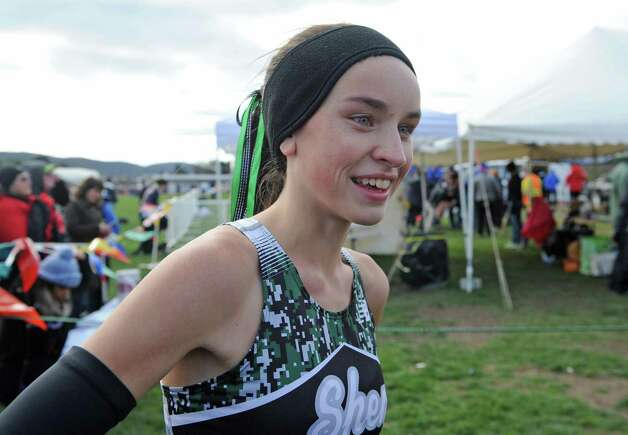 Shenendehowa's Danielle Jordan following her finish in the Girl's Class A New York state high school cross country championships on Saturday Nov.14, 2015 in Central Valley, N.Y.  (Michael P. Farrell/Times Union) Photo: Michael P. Farrell / 00034186A