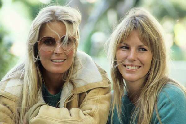 American actress Bo Derek (L) and her sister Carey, UK, 30th September 1984