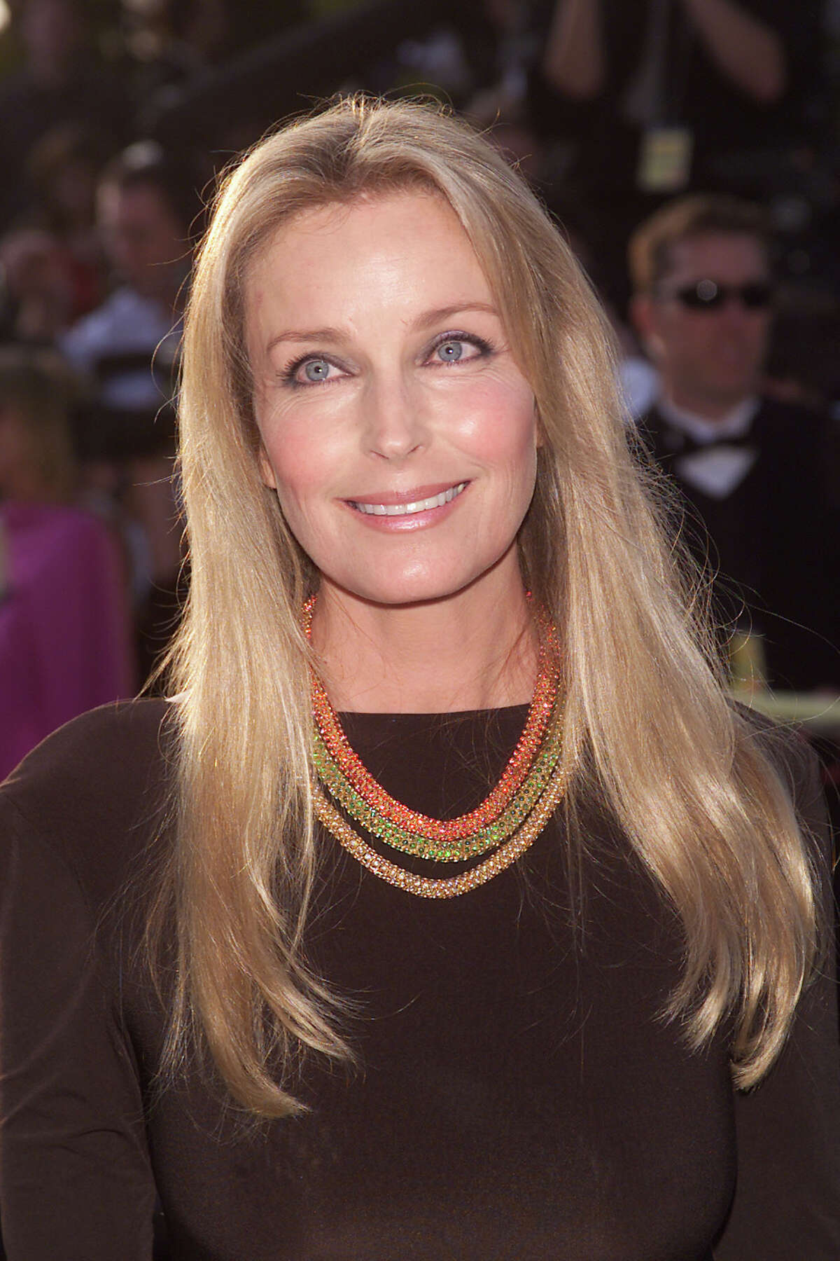 Bo Derek arrives at the Vanity Fair Oscar party at Morton's Restaurant in Los Angeles Sunday night, March 25, 2001. Photo by Evan Agostini/Getty Images