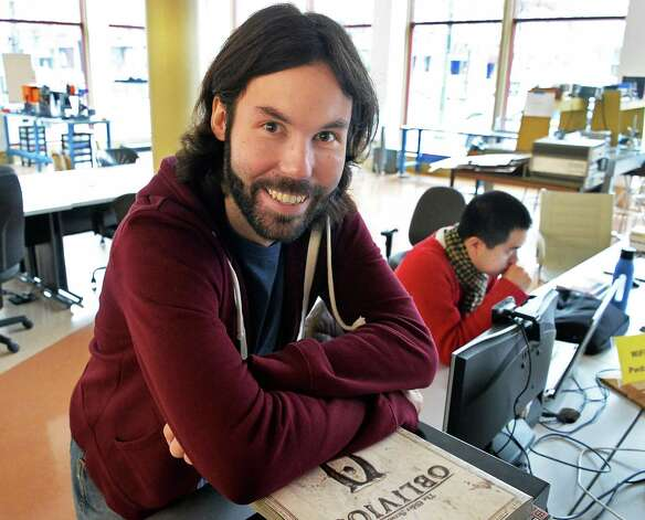 Tech Valley Game Space founder Jamey Stevenson in their new quarters in the Quackenbush Building Friday Nov. 13, 2015 in Troy, NY.  (John Carl D'Annibale / Times Union) Photo: John Carl D'Annibale / 00034239A