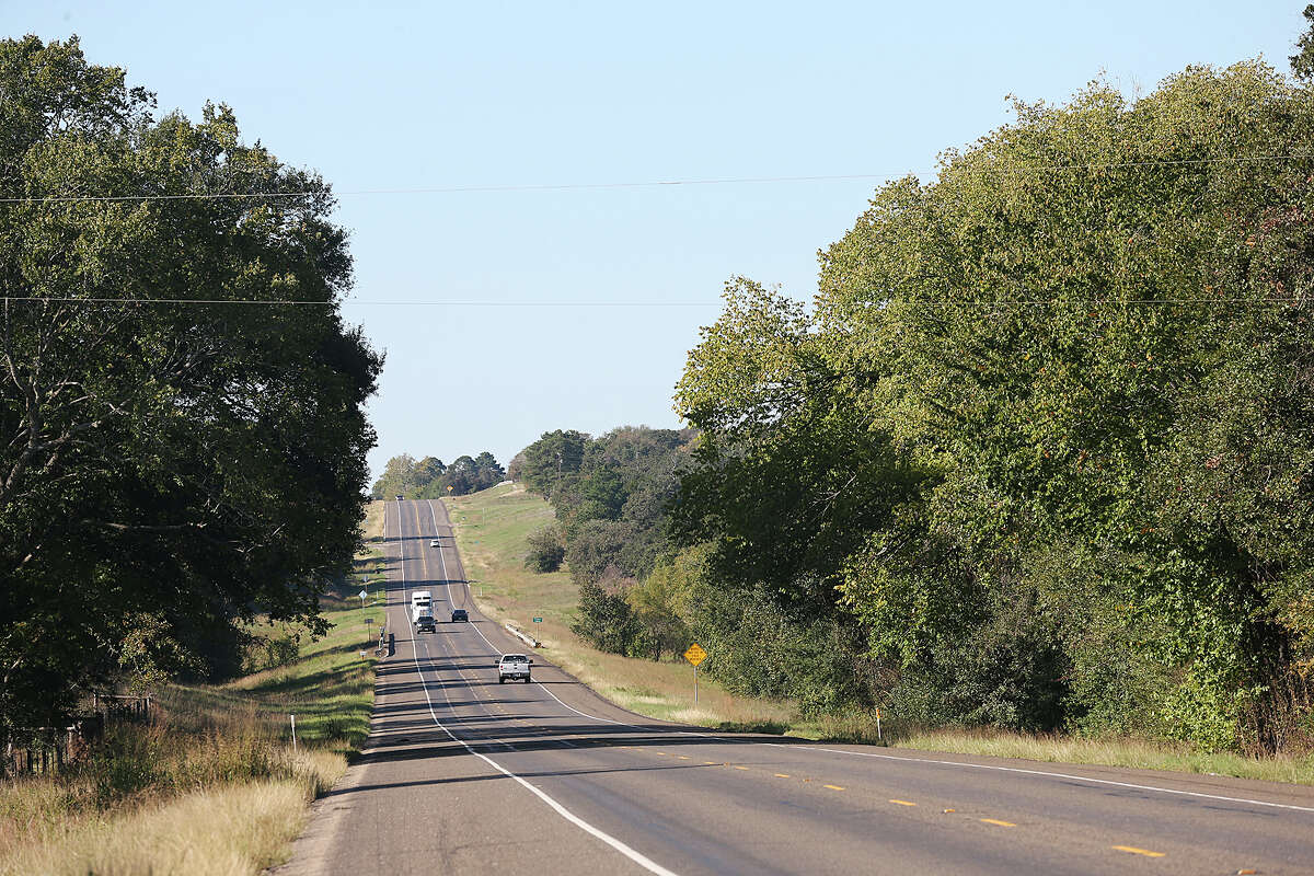 Traffic moves along Texas State Highway 36 between Burleson and Milam Counties, Sunday, Nov. 8, 2015. San Antonio Water System plans on piping water from those counties to San Antonio through their Vista Ridge Project. The multi billion dollar project has drawn objections from area landowners and San Antonio activist.