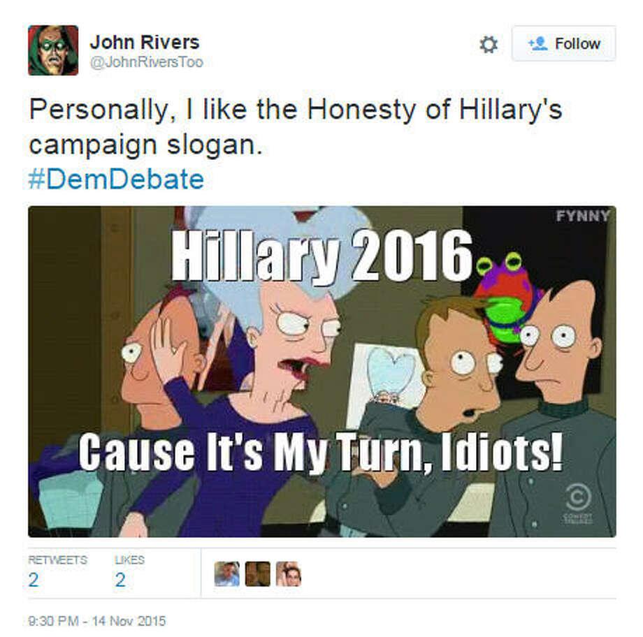 Best memes from the 2015 political seasonhttps://twitter.com/JohnRiversToo/status/665733498137944064 Source: Twitter / @TrevDon Photo: Twitter Screenshots