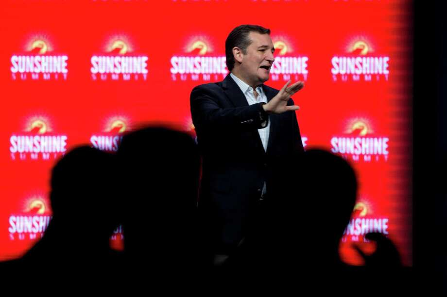 """Texas GOP presidential hopeful Ted Cruz outlined what he called steps """"to preserve our own safety"""" that included halting plans to bring Syrian refugees to the United States. Photo: Stephen Crowley / New York Times / NYTNS"""