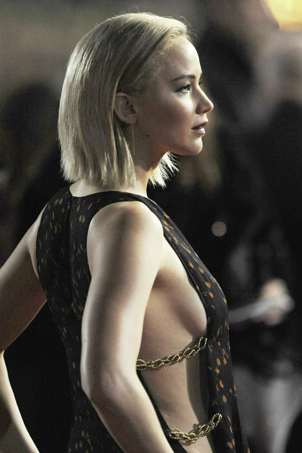 Jennifer Lawrence attends The Hunger Games: Mockingjay Part 2 - UK Premiere at Odeon Leicester Square on November 5, 2015 in London, England.