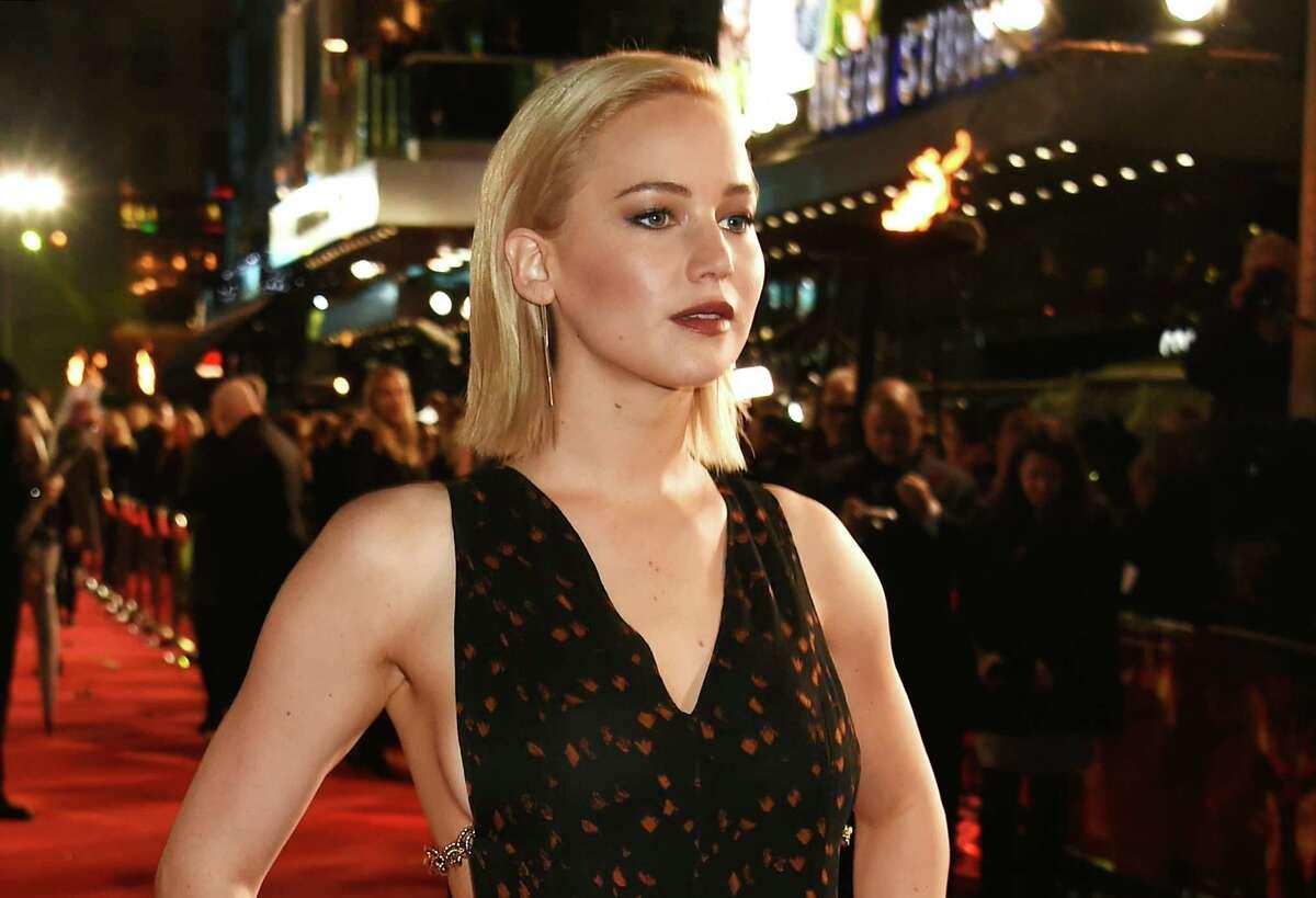 Jennifer Lawrence attends the UK Premiere of