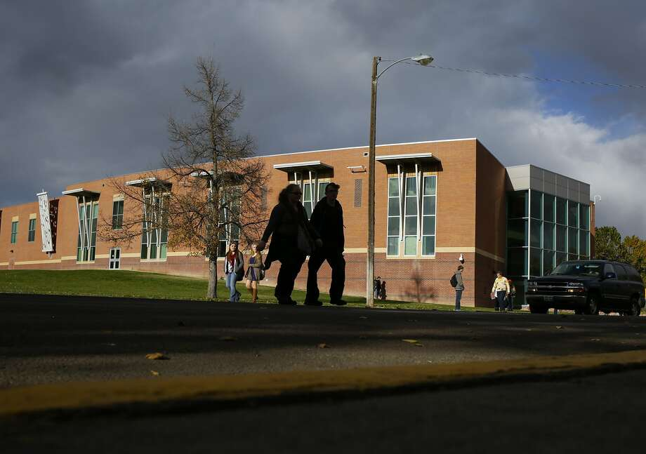 Canon City High School -- where more than 100 students were apparently exchanging nude pictures -- in Canon City, Colo., Nov. 6, 2015.  Photo: Nick Cote, New York Times