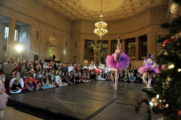 Members of the Northeast Ballet Company perform during the Saratoga Performing Arts Center's Annual Nutcracker Tea on Sunday, Nov. 15, 2015, in Saratoga Springs, N.Y.  The ballet company took part in three performances on Sunday.  The Northeast Ballet Company will perform the full Nutcracker Ballet at Proctors Theater on December 4th, 5th, and 6th.  (Paul Buckowski / Times Union) Photo: PAUL BUCKOWSKI / 00034234A