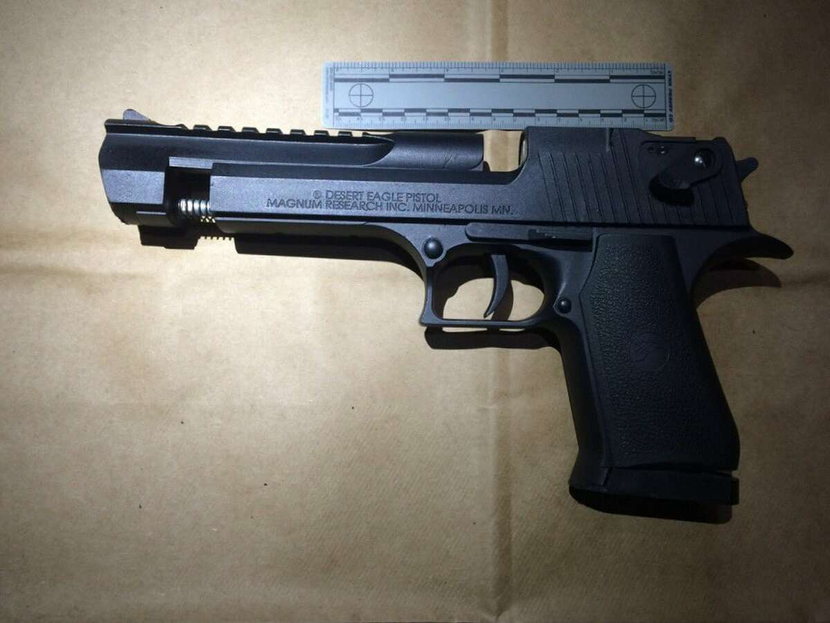 Oakland police released this photo of what they say is a replica gun used by a suspect in a fatal officer-involved shooting on Sunday, Nov. 15, 2015.