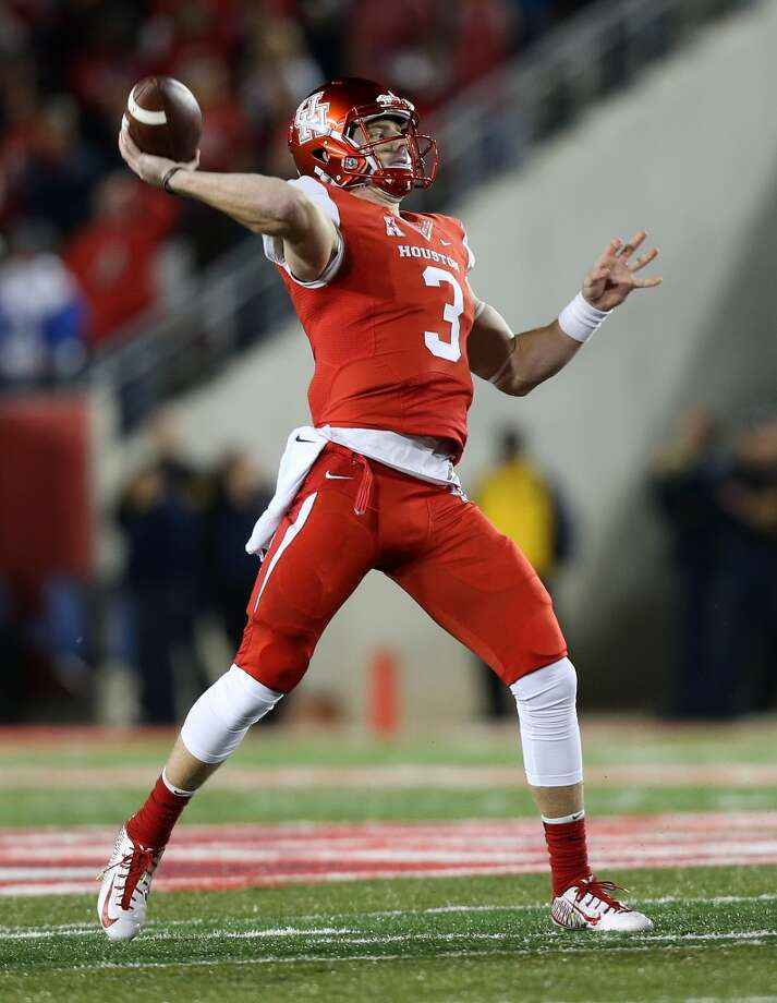 Backup quarterback Kyle Postma may have suffered a broken foot on the final play of the third quarter in Saturday's 30-18 win over Tulane. Photo: Elizabeth Conley, Houston Chronicle