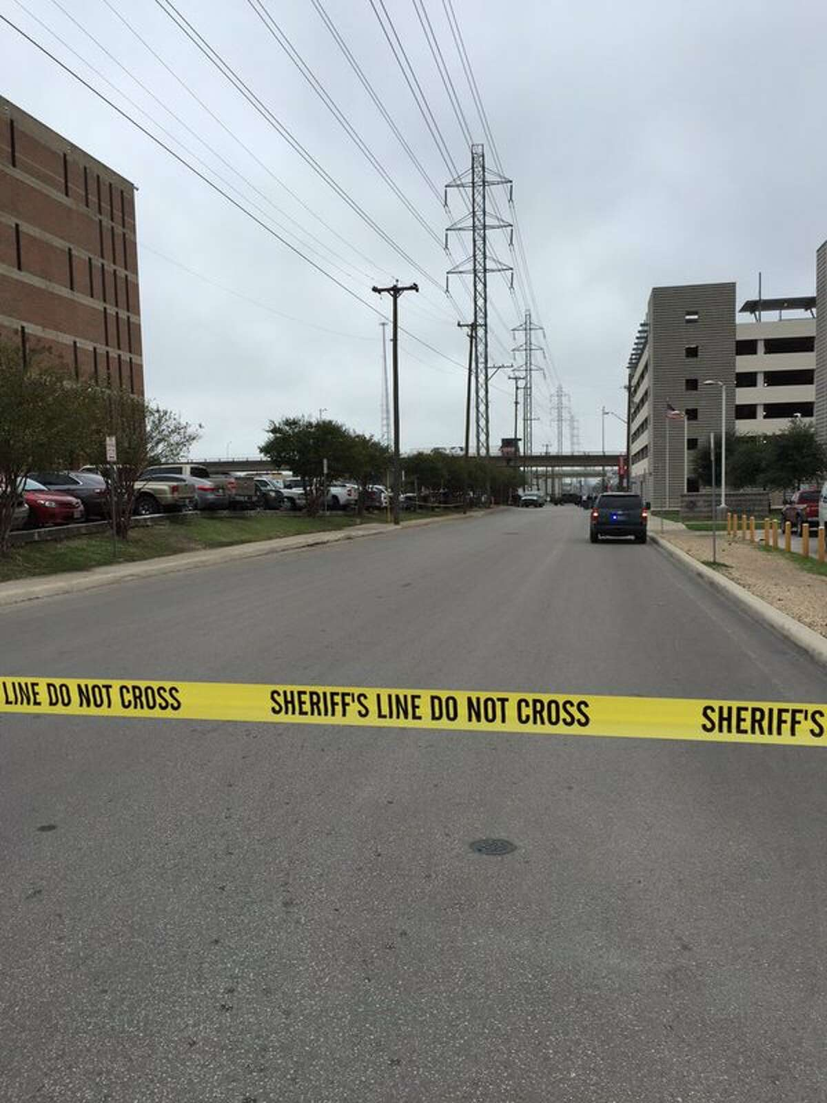 Authorities have closed Comal Street in front of the Bexar County Jail following the discovery of a suspicious package on Nov. 16, 2015.