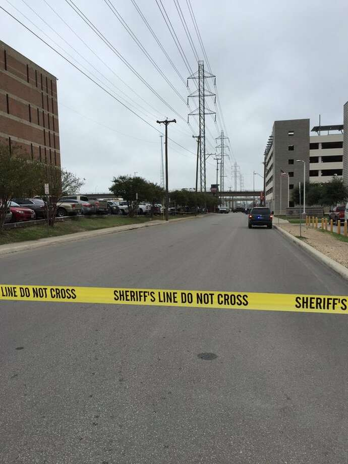 Authorities have closed Comal Street in front of the Bexar County Jail following the discovery of a suspicious package on Nov. 16, 2015. Photo: Bexar County Sheriff