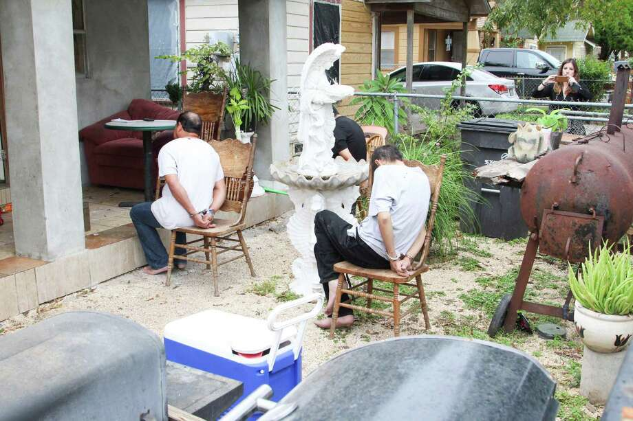SAPD's Fencing Interdiction Strike Team found tens of thousands of dollars worth of stolen property Nov. 16, 2015, at a residence in the 2200 block of South Nueces Street. Photo: Tyler White/SAEN