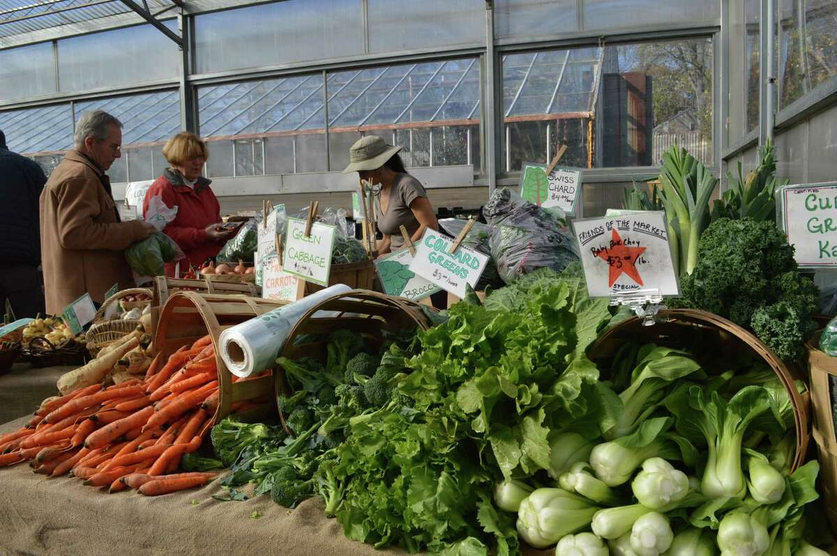 The Westport Farmers' Market has moved to winter quarters at Gilbertie's Herb Garden. More than 35 vendors will provide locally grown fruit, vegetables, meats, cheeses, milk, baked and prepared foods, as well as some handmade items folks have come to expect. Shoppers in the
