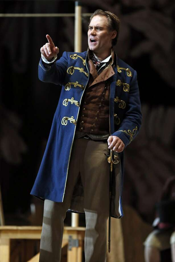 """Brandon Jovanovich as Walther during SF Opera dress rehearsal of Wagner's """"Die Meistersinger,"""" in San Francisco, Calif., on Sunday, November 15, 2015. Photo: Scott Strazzante, The Chronicle"""