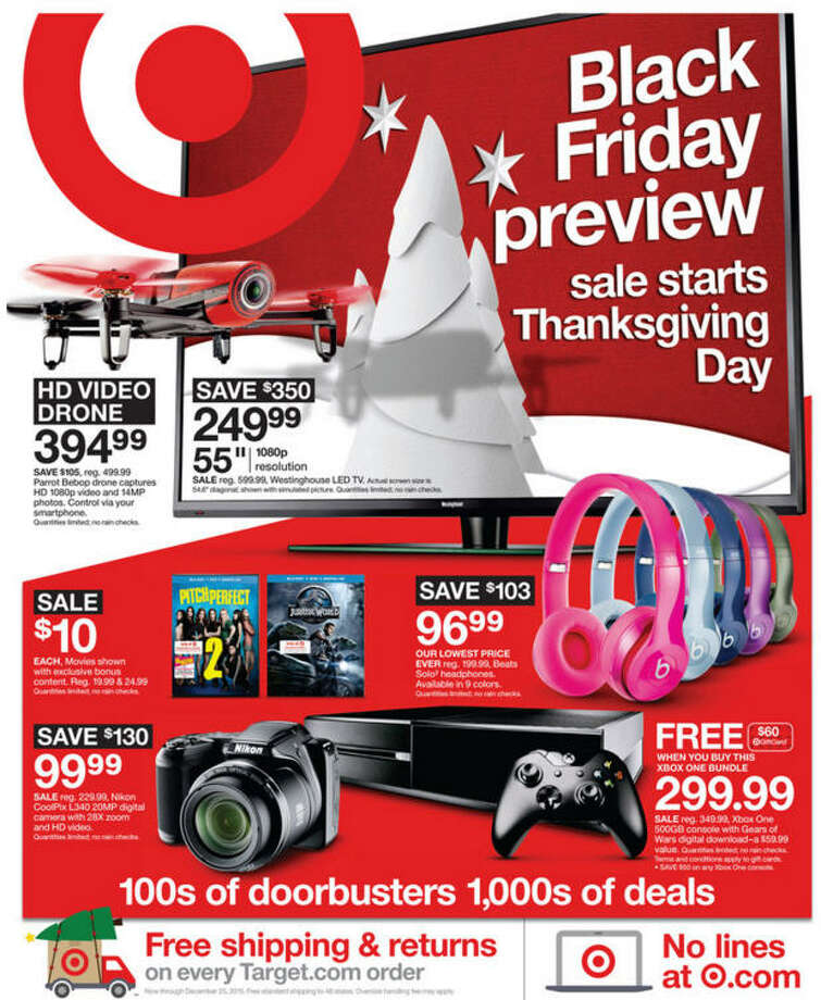 Target Black Friday Ads - 2015(Closer Look) Photo: Target