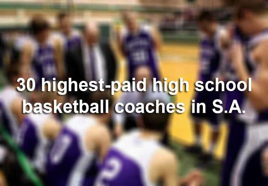 The San Antonio Express-News sifted through salary records for 615 head coaches in the area, and found that head coaches earned more than $39 million during the 2013-2014 school year. Boys and girls basketball coaches combined pull in over $5.4 million a year, according to records obtained from local school districts. Click through the slideshow to see the 30 highest-paid high school basketball coaches in San Antonio. Photo: File
