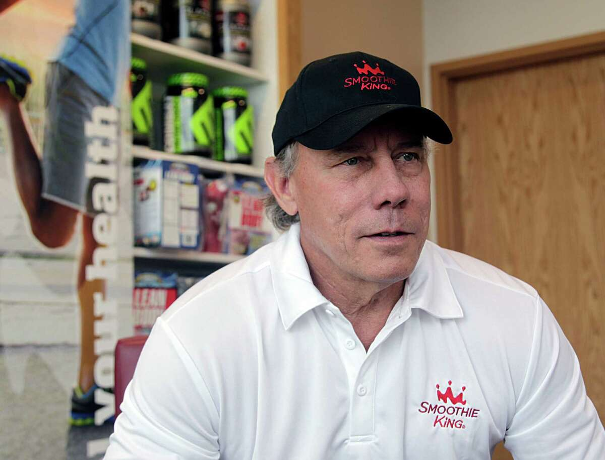 Dave McMahon owner of 26 Smoothie King franchise locations during an interview Thursday, Nov. 5, 2015, in Houston. ( James Nielsen / Houston Chronicle )