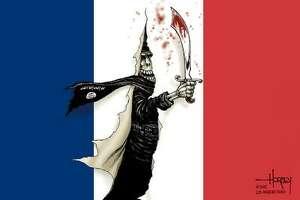 Syndicated cartoonists put focus on Paris attacks.