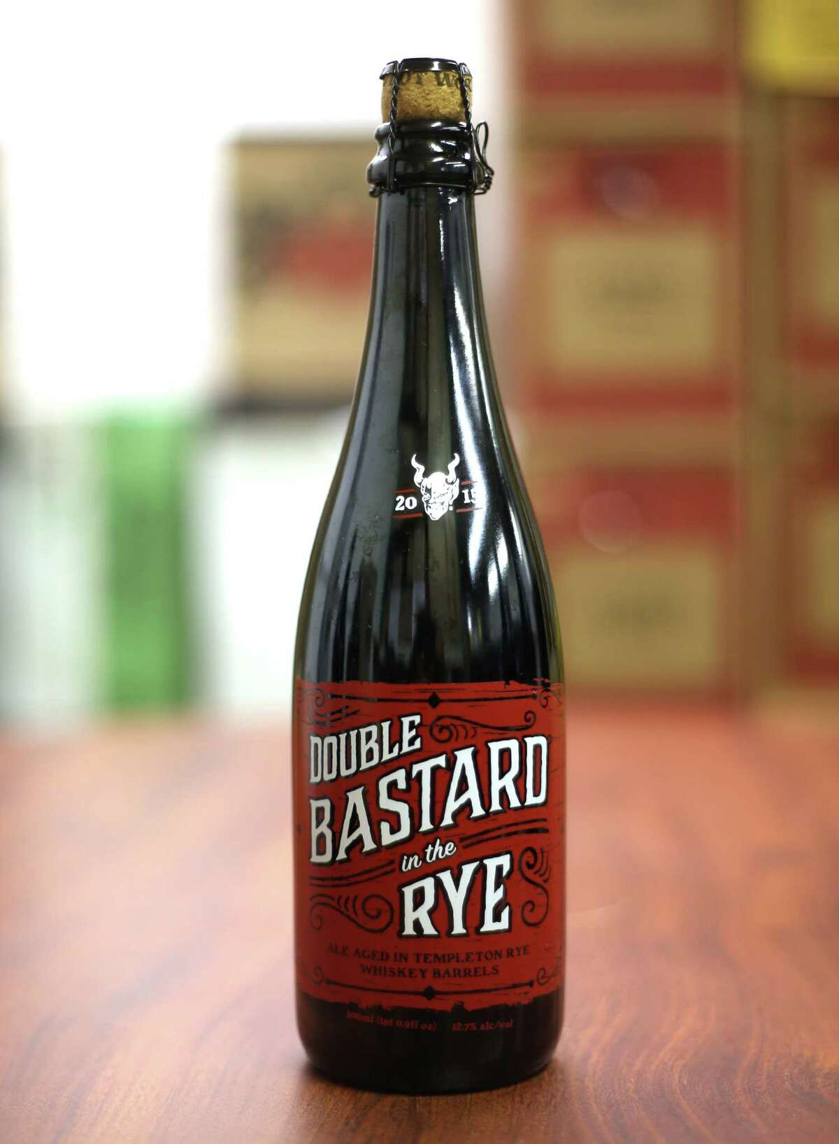 Double Bastard in the Rye by Stone Brewing Company is one of beers that Specs on Smith will be offering on Black Friday photographed in their Houston offices on Friday, Nov. 13, 2015.