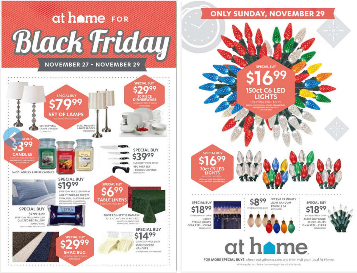 At Home 2015 Black Friday insert front and back cover(Prices and participation may vary. Deals may not be available to all customers at all locations and are subject to availability and may change unless otherwise noted by the store.)