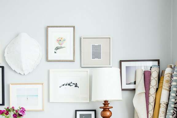 Interior designer Lauren Nelson's San Francisco home. Pictured, the office.