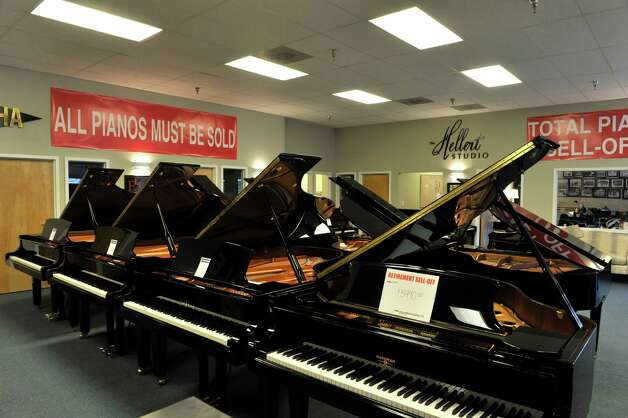 A view of the pianos for sale at Clark Music on Monday, November 16, 2015, in Clifton Park, N.Y.  Clark Music is closing.   (Paul Buckowski / Times Union) Photo: PAUL BUCKOWSKI / 00034253A