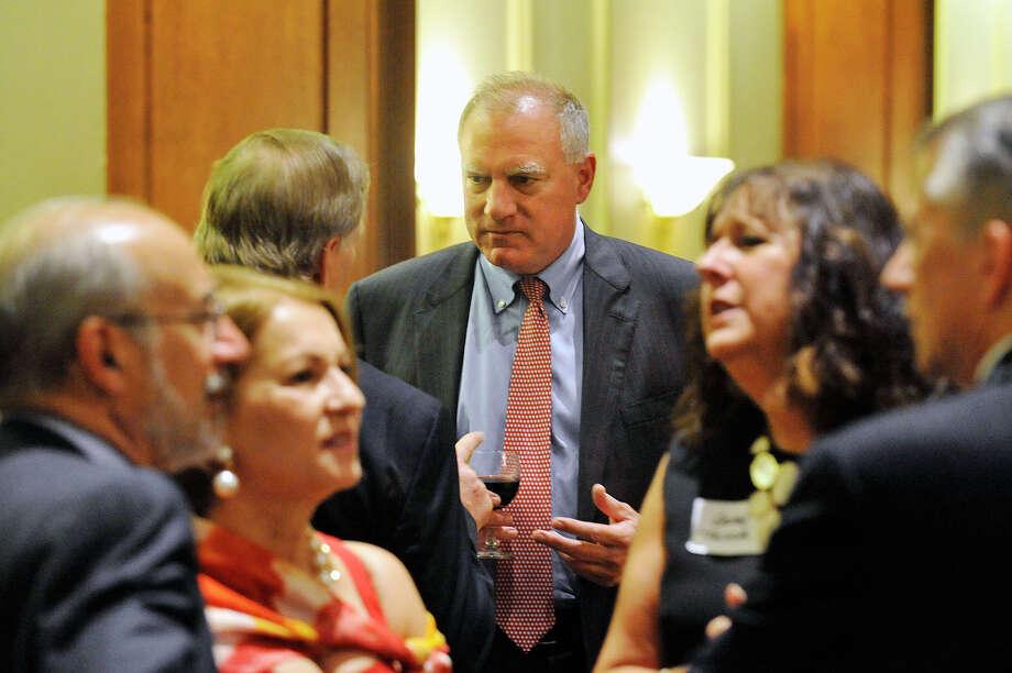 Connecticut Attorney General George Jepsen, center. Photo: Jason Rearick / Hearst Connecticut Media / Stamford Advocate