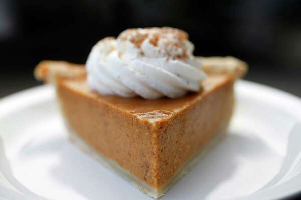 A pumpkin pie made by Alyssa Dole, pastry chef of Revival Market and Coltivare at Revival Market on Tuesday, Oct. 27, 2015, in Houston. ( Karen Warren / Houston Chronicle )