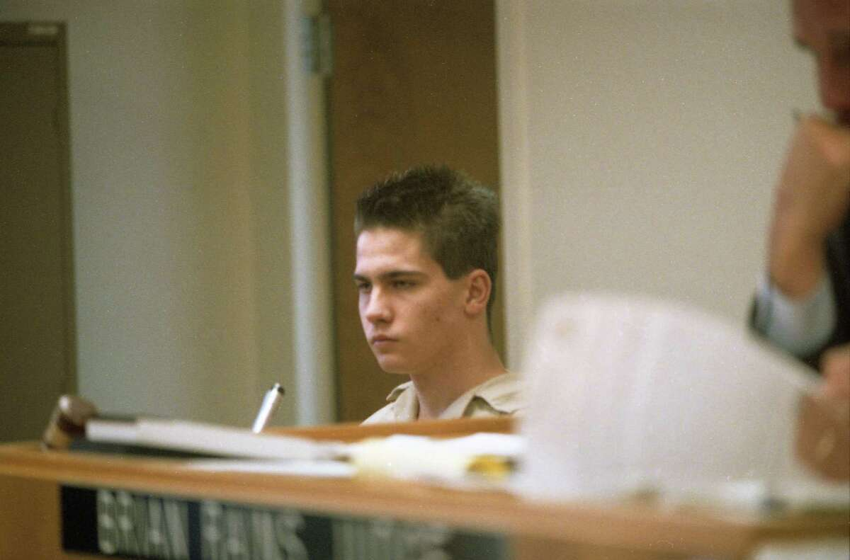 01/11/1993 - Jon Christopher Buice testifies in the trial of three of ten defendants accused in the July 4, 1991 gay-bashing murder of banker Paul Broussard outside a Montrose bar. Buice, accused of landing the fatal blows, pled guilty last year in exchange for a 45-year prison sentence.