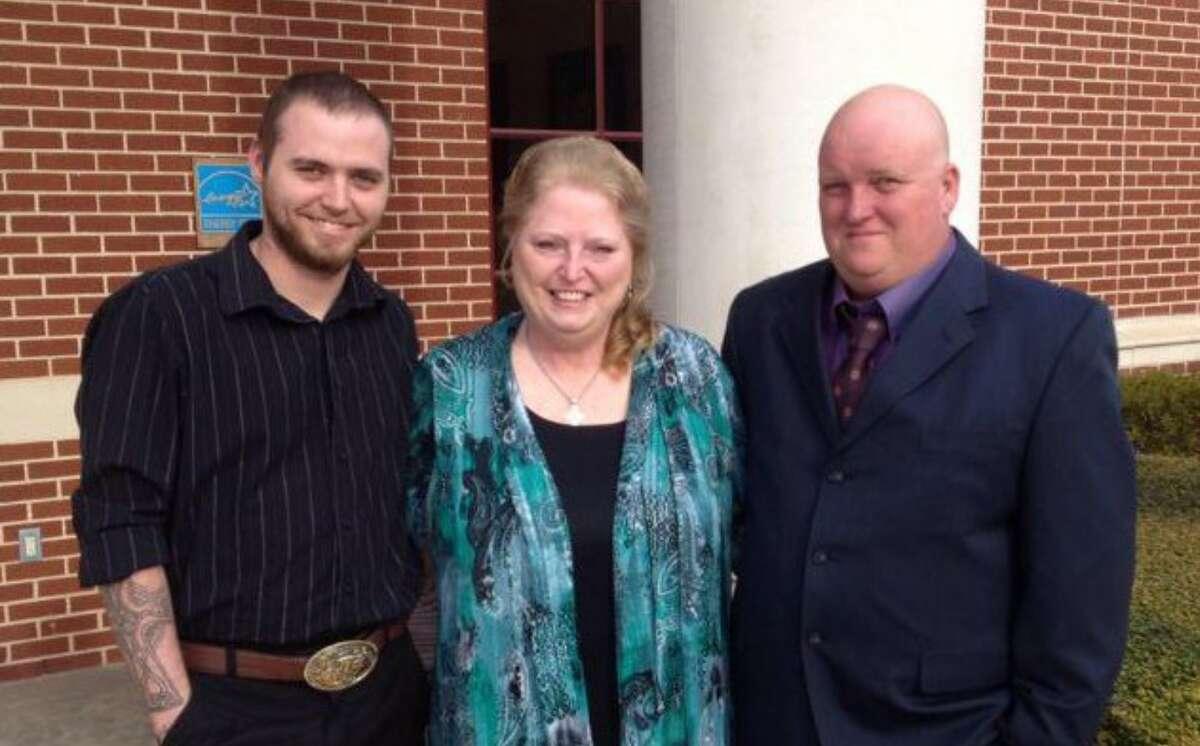 Cody Ledbetter, shown with his mother Nina Boyett and Danny Boyett.
