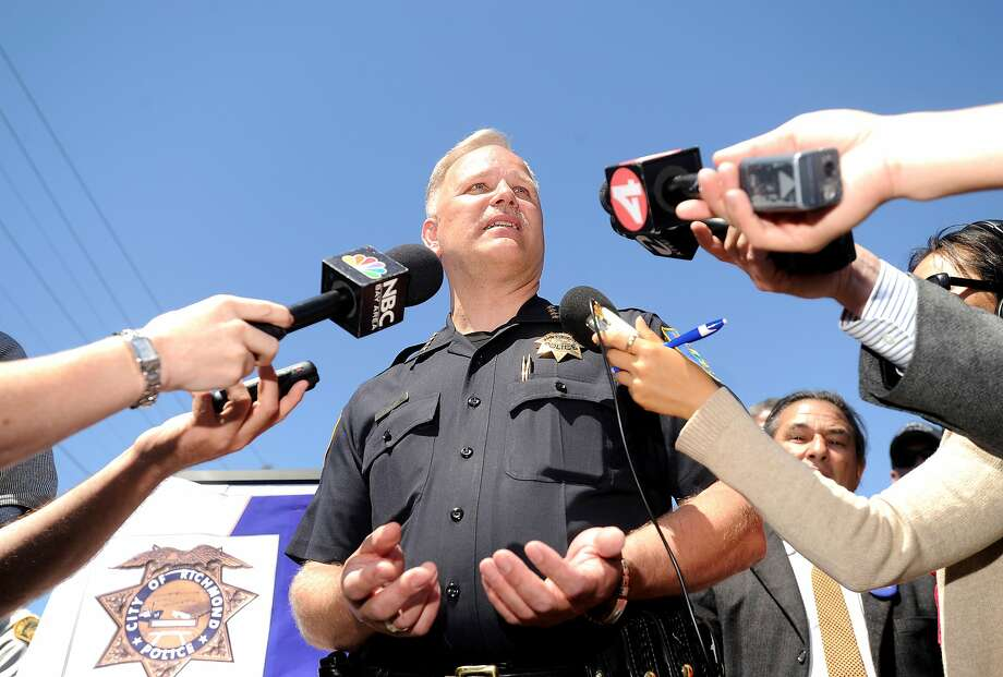 Richmond Police Chief Chris Magnus discusses a string of recent homicides during a press conference on Thursday, July 21, 2011, in Richmond, Calif. Photo: Noah Berger, Special To The Chronicle