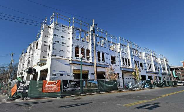 New apartments on Broadway south of State Street are just one of a number of new apartment buildings that are under construction Monday Nov. 16, 2015 in Schenectady, N.Y.       (Skip Dickstein/Times Union) Photo: SKIP DICKSTEIN / 00034270A