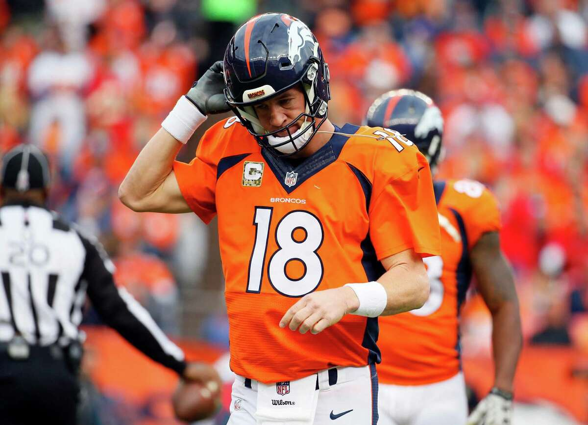 Peyton Manning Manning was benched after completing just 5 of 20 passes with four interceptions in a loss to Kansas City. It was later revealed that he was injured. After his replacement Brock Osweiler's performance in a win over New England on Sunday, the 39-year-old Manning might not be coming back anytime soon.