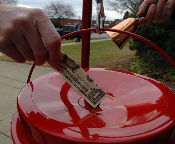 Times Union staff photo by John Carl D'Annibale:  Salvation Army of Saratoga Springs kicks off the Salvation Army kettle campaign  Wednesday November 16, 2005.  FOR HORNBECK STORY ORG XMIT: MER2015110915232855 Photo: John Carl D'Annibale / Albany Times Union