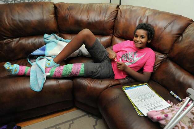 Ten-year-old Tori Riddick on Wednesday Nov. 4, 2015 in Albany, N.Y.  (Michael P. Farrell/Times Union) Photo: Michael P. Farrell / 00033984A