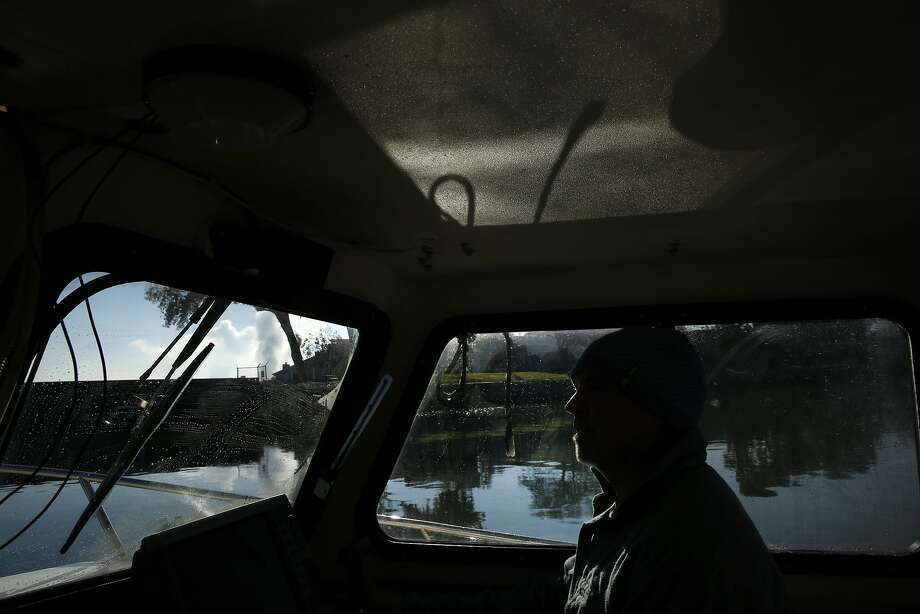 John Sweeney drives a boat out of the Pittsburg Marina for a tour of Chipps Island, which is a habitat for wintering and migrating waterfowl. Photo: Leah Millis, The Chronicle