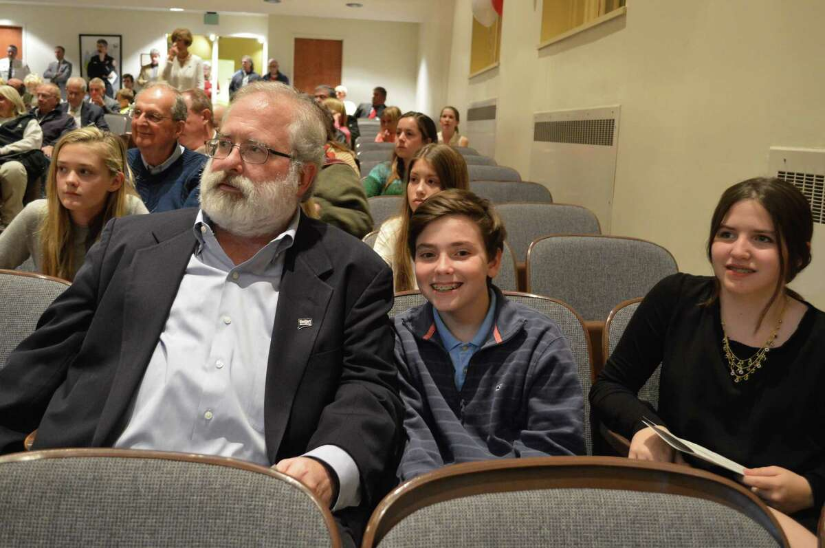 John Suggs, returning RTM District 5 member, and his 12-year-old twins Josh and Rachel.