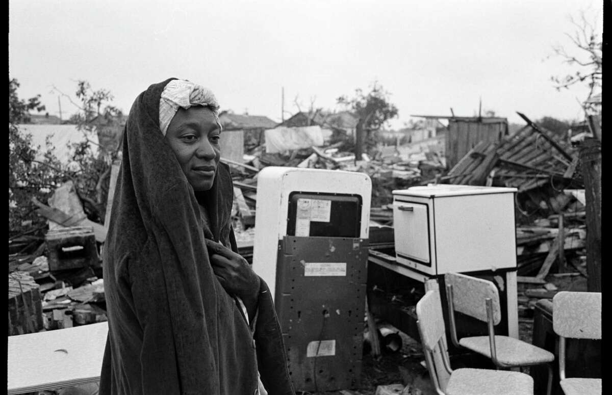 A survivor surveys the destruction in Waco, Texas, after an F5 tornado hit the city.