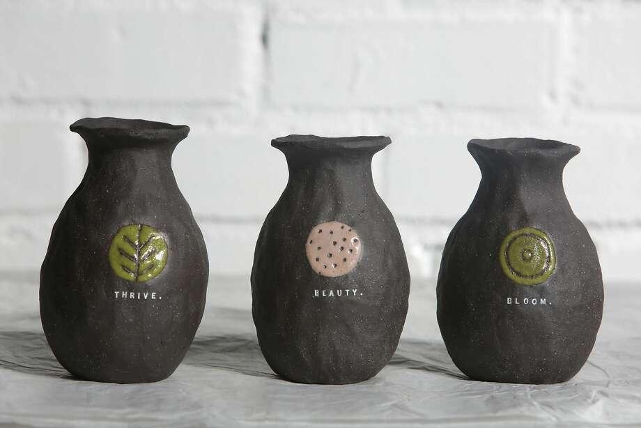 Vases by Rae Dunn. Photo: Lea Suzuki, The Chronicle