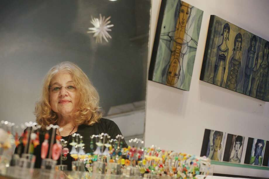 Painter-jeweler Susan Brooks, who has a studio in the Sawtooth Building, has organized Berkeley Artisans Holiday Open Studios since 1991. Photo: Lea Suzuki, The Chronicle