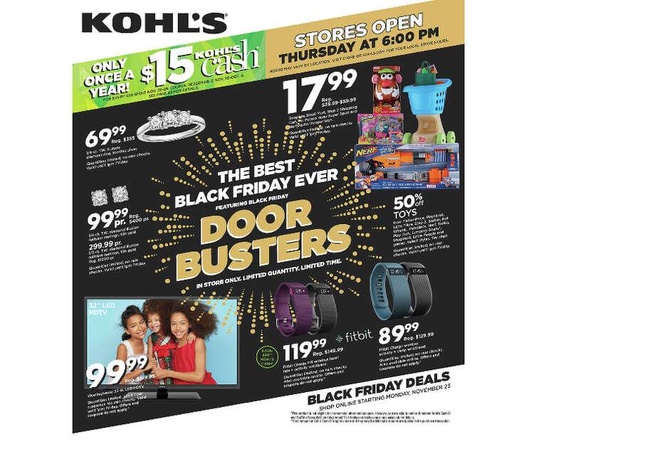 Kohl's Black Friday Ad - 2015(Closer Look) Photo: Kohls.com
