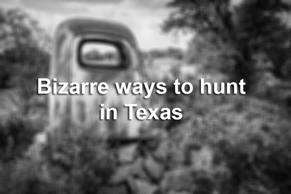 Once Texas's popular hunting season is in session, hunters go all out to prove they mean business and to gain an edge over their prey. See some of the bizarre, awesome and questionable techniques that people use to hunt.