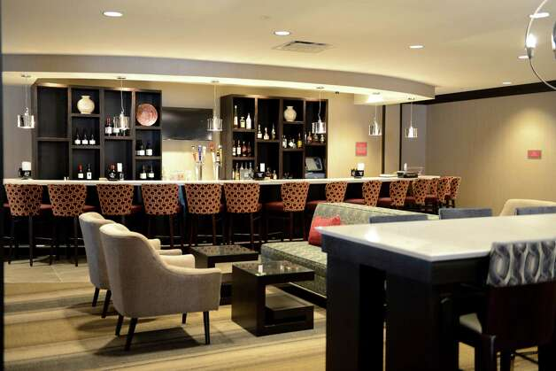 Lobby bar in the new Doubletree Hotel by Hilton at 100 Nott Terrace Tuesday, Nov. 17, 2015, in Schenectady, N.Y. (Will Waldron/Times Union) Photo: Will Waldron, Albany Times Union / 10034298A