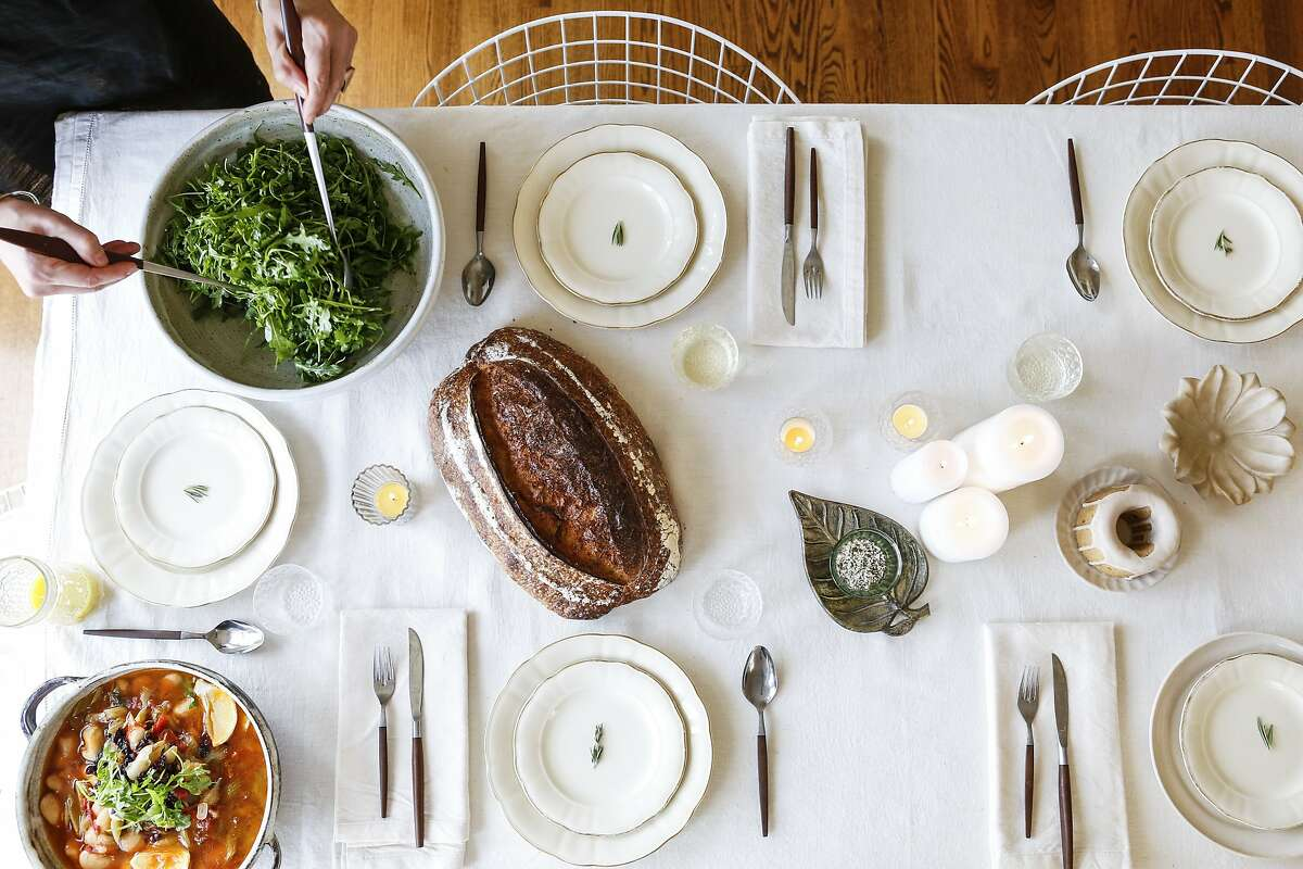 Part of a Heidi Swanson table setting is seen in her home on Monday, Nov. 9, 2015 in San Francisco, Calif.