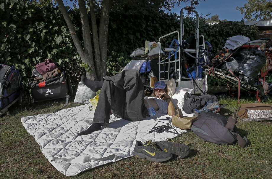 """""""Tree"""" a homeless man says he has been in Berkeley for the past three years and is currently living in a homeless encampment at Ohlone Park along Hearst Ave. in Berkeley, Calif. on Tues. November 17, 2015. Photo: Michael Macor, The Chronicle"""