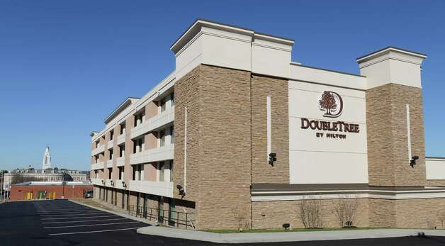 Exterior of the new Doubletree Hotel by Hilton at 100 Nott Terrace Tuesday, Nov. 17, 2015, in Schenectady, N.Y. (Will Waldron/Times Union) Photo: Will Waldron / 10034298A