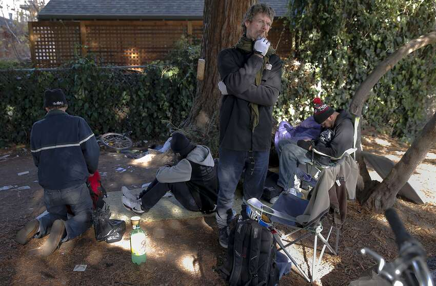 Kenneth Collier, a homeless man in Berkeley's Ohlone Park, says he has been living in the Bay Area on and off for the past 15 years.