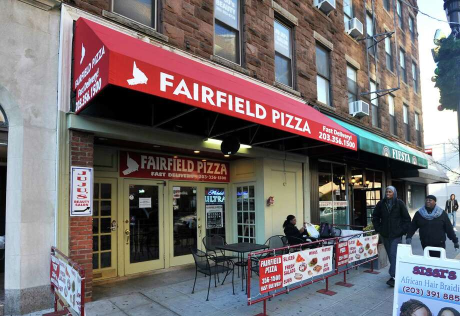 Burglars tried to blow up the Fairfield Pizza building on Atlantic Street after an early-morning break-in Monday by pulling a pizza oven from the wall and breaking the gas line. The pilot light was out, however, saving the building. Photo: Michael Cummo / Hearst Connecticut Media / Stamford Advocate
